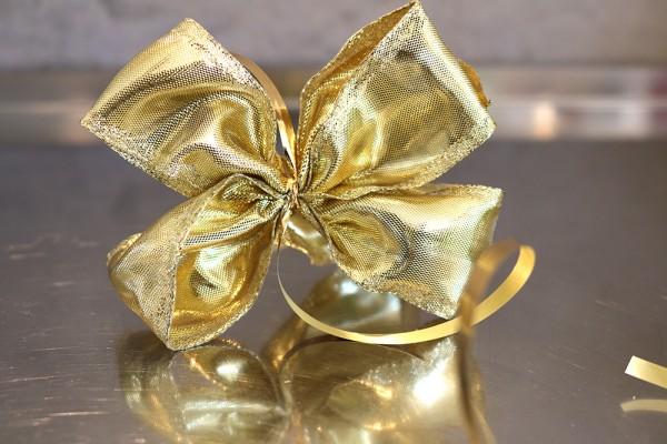 Geschenkschleife, gold